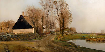 Country Dirt Roads Painting - Landscape In Balersbronde by Mountain Dreams
