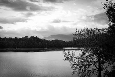Photograph - Landscape In Black And White Nantahala River Blue Ridge Mountains by Kelly Hazel