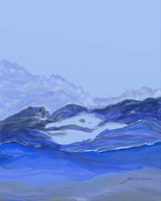 Digital Art - Landscape In Blues by Kae Cheatham