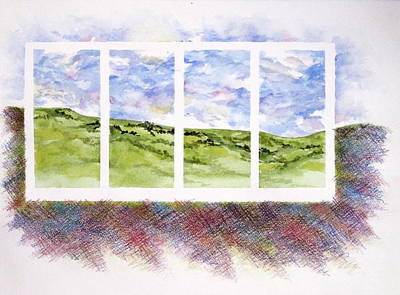 Painting - Landscape In Four Panels by Renee Goularte
