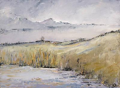 Landscape In Gray Art Print by Carolyn Doe