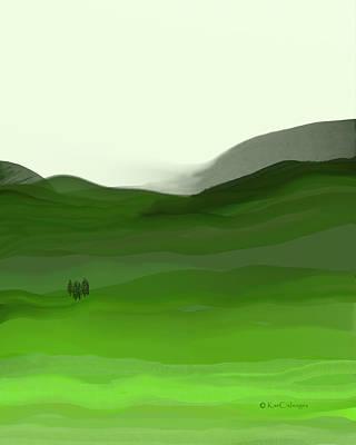 Digital Art - Landscape In Green by Kae Cheatham