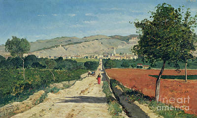 Roads Painting - Landscape In Provence by Paul Camille Guigou