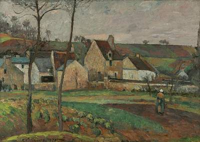 The Hermitage Painting - Landscape In The Hermitage by Camille Pissarro