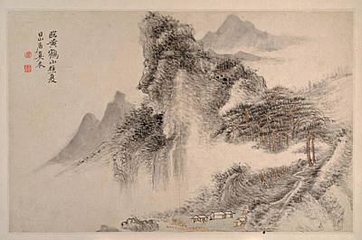 Drawing - Landscape In The Manner Of Song And Yuan Masters  by George Wilfred Anthony