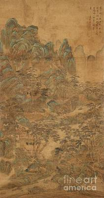 1470 Painting - Landscape In The Style Of Wen Zhengming by Celestial Images