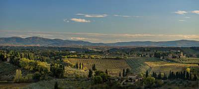 Photograph - landscape in Toskana Itali  by Radoslav Nedelchev