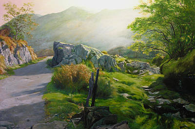 Landscape In Wales Art Print by Harry Robertson