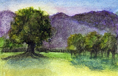 Painting - Landscape In Watercolor -1 by Barbara J Blaisdell