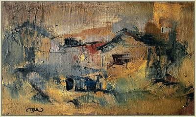 Landscape In Yellow Art Print by Pemaro