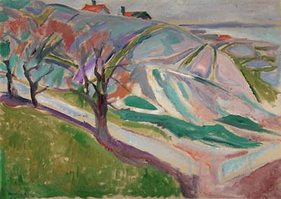 Landscape, Kragero Art Print by Edvard Munch