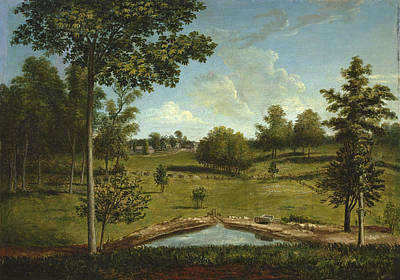 Painting - Landscape Looking Toward Sellers Hall From Mill Bank by Charles Willson Peale