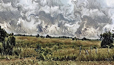 Digital Art - Landscape Motion Hadley Michigan by Artful Oasis