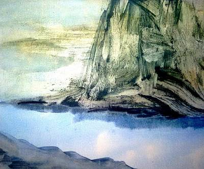 Inner World Painting - Landscape Mountain by Madina Kanunova
