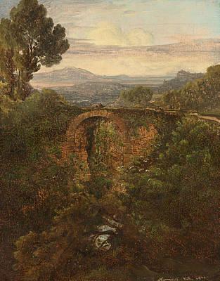 Lake Geneva Painting - Landscape Near Narni by Celestial Images