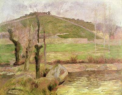 Tree Stump Painting - Landscape Near Pont Aven by Paul Gauguin