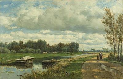 Landscape Near The Hague Art Print by Willem Roelofs