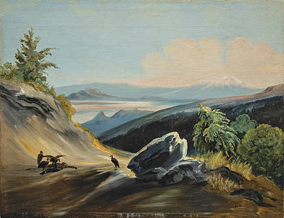 Puebla Painting - Landscape Of A Path With The Itztaccihuatl In The Distance by Johann Moritz Rugendas