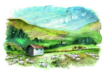 Painting - Landscape Of North Yorkshire 01 by Miki De Goodaboom