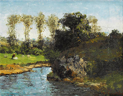 Painting - Landscape Of Saintonge by Gustave Courbet
