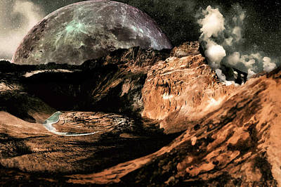 Digital Art - Landscape Of The Moon by Mario Carini