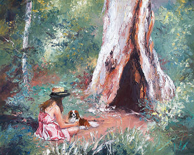 Painting - Landscape Painting - By The Hollow Tree by Jan Matson