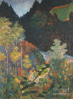 Landscape Painting - Landscape by Paul Gauguin
