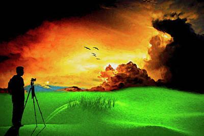 Digital Art - Landscape Photographer by John Haldane