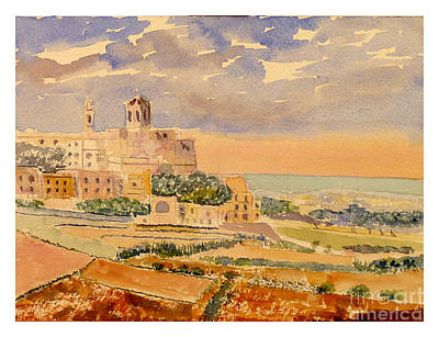 Painting - landscape Rabat by Godwin Cassar