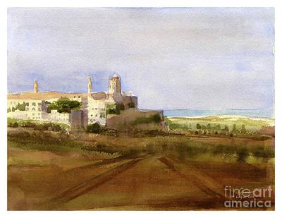 Painting - landscape Rabat/Mdina by Godwin Cassar