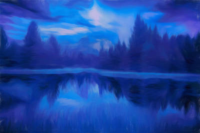 Painting - Landscape Reflections by Dan Sproul