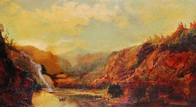 Landscape Scene Near Candiceville H B Art Print
