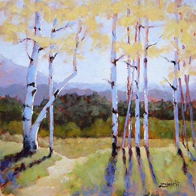 Art Print featuring the painting Landscape Series 2 by Laura Lee Zanghetti