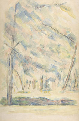Drawing - Landscape  by Paul Cezanne