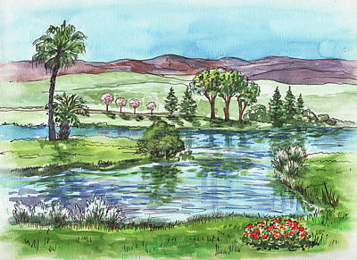 Painting - Landscape Spring In California by Irina Sztukowski
