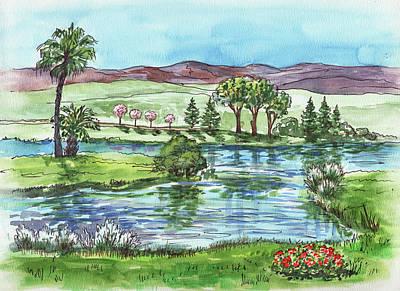Painting - Landscape Spring In California by Irina Sztukowski
