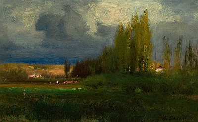 Inness Painting - Landscape Study by George Inness