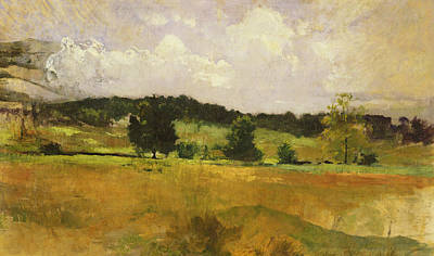 Rural Landscapes Painting - Landscape Study by John Henry Twachtman