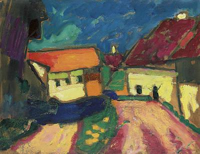 Painting - Landscape Study - Village Road by Alexej von Jawlensky