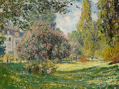 1876 Painting - Landscape  The Parc Monceau, 1876  by Claude Monet