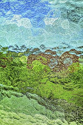 Landscape Through Frosted Glass #2 Art Print by Norman Gabitzsch