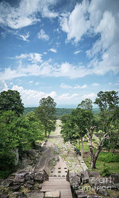 Photograph - Landscape View From Preah Vihear Mountain In North Cambodia by Jacek Malipan