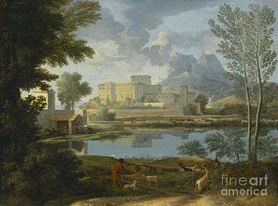 Landscape With A Calm Art Print by Celestial Images