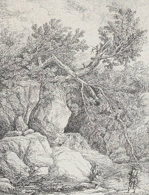 Relief - Landscape With A Fallen Tree by Hubert Robert