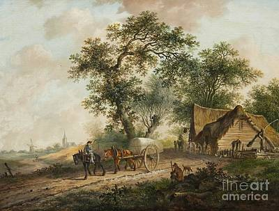 Landscape With A Horse And Cart Art Print