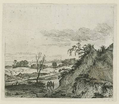Firefighter Patents - Landscape with a horse with wagon, Jan Hackaert, 1640 - 1699 by Jan Hackaert