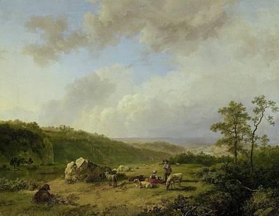 Landscape With A Rainstorm Threatening Art Print by Barend Cornelis