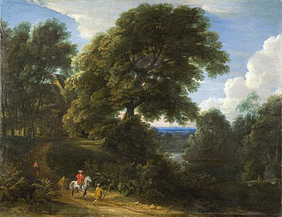 Painting - Landscape With A Rider In Red by Jacques d'Arthois