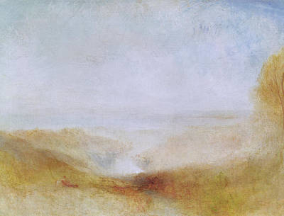 In The Distance Painting - Landscape With A River And A Bay In The Distance by Joseph Mallord William Turner