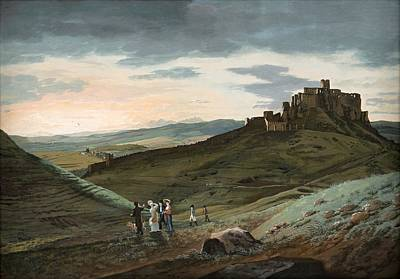 Painting - Landscape With A Spis Castle, Jan Jakub Muller, Ca 1807 by Vintage Printery